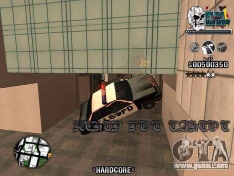 C-HUD Hardcore By KD para GTA San Andreas octavo de pantalla
