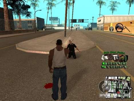 С-HUD Grove Street para GTA San Andreas tercera pantalla