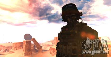 Teniente David Hesh Walker из De Call of Duty: G para GTA San Andreas segunda pantalla