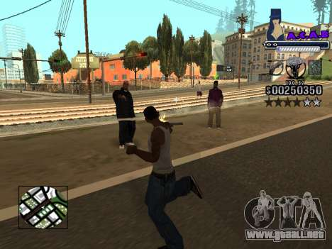 C-HUD new A.C.A.B para GTA San Andreas sexta pantalla