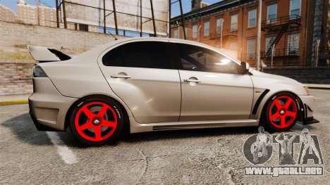 Mitsubishi Lancer Evolution X FQ400 para GTA 4 left