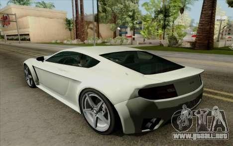 Rapid GT para GTA San Andreas vista hacia atrás