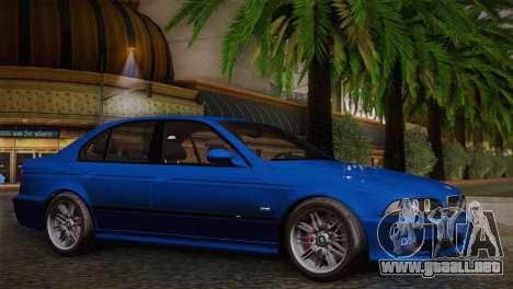 BMW E39 M5 2003 para GTA San Andreas vista hacia atrás