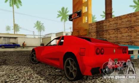 New Cheetah v1.0 para GTA San Andreas vista hacia atrás
