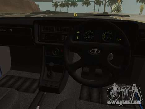 VAZ-2107 Riva para GTA San Andreas vista hacia atrás