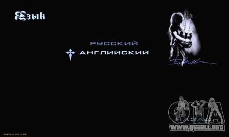 Heavy Metal Menu V.1 para GTA San Andreas octavo de pantalla