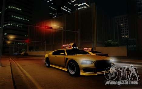 Buffalo Taxi para GTA San Andreas vista hacia atrás