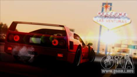 Ferrari F40 1987 para la visión correcta GTA San Andreas