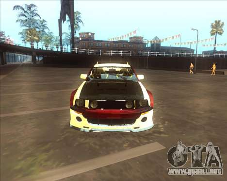 Ford Mustang GT из NFS MW para GTA San Andreas vista posterior izquierda