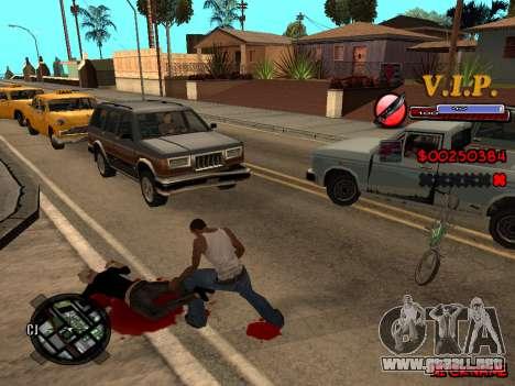 C-HUD VIP para GTA San Andreas tercera pantalla