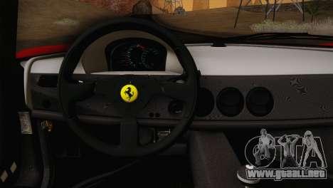 Ferrari F50 1995 para la visión correcta GTA San Andreas