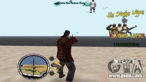 Vagos HUD para GTA San Andreas segunda pantalla