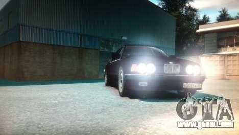 BMW 735iL E32 ver 2 para GTA 4 vista hacia atrás