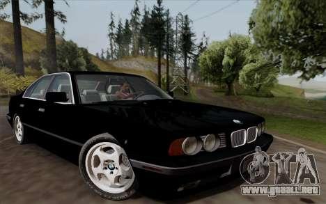 BMW 540i (E34) para GTA San Andreas left