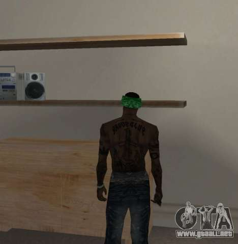Nueva bandanas para CJ para GTA San Andreas sexta pantalla