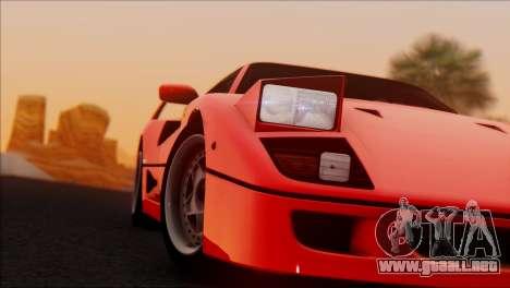 Ferrari F40 1987 para GTA San Andreas left