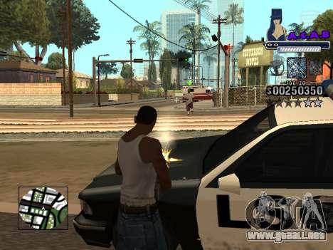 C-HUD new A.C.A.B para GTA San Andreas quinta pantalla