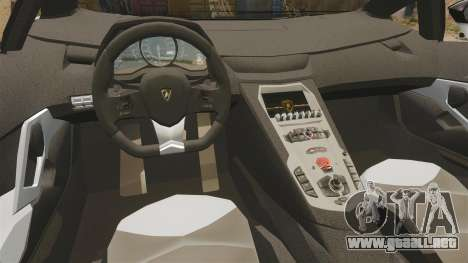 Lamborghini Aventador LP700-4 2012 [EPM] Circle para GTA 4 vista interior