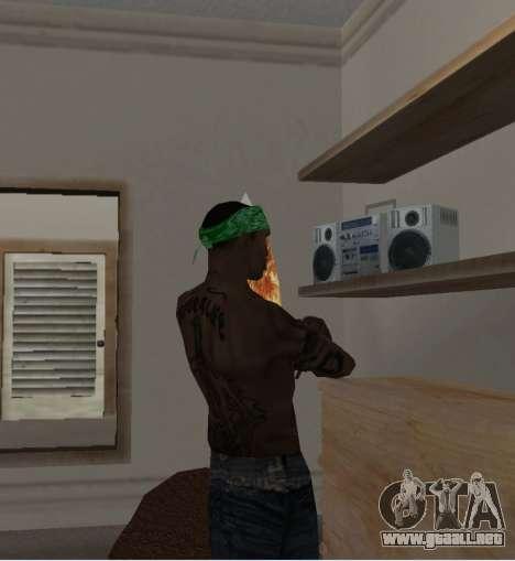 Nueva bandanas para CJ para GTA San Andreas sucesivamente de pantalla