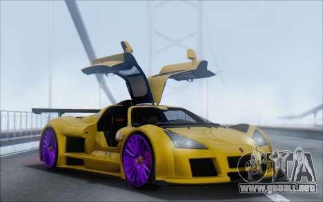 Gumpert Apollo S Autovista para GTA San Andreas left
