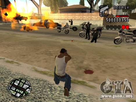 C-HUD Energy para GTA San Andreas sucesivamente de pantalla