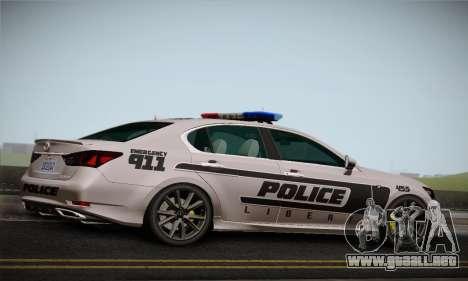 Lexus GS350 F Sport Series IV Police 2013 para la visión correcta GTA San Andreas