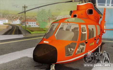 AS 365N Dauphin para vista lateral GTA San Andreas