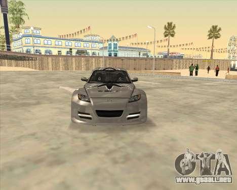 Mazda RX 8 из NFS most Wanted para la visión correcta GTA San Andreas