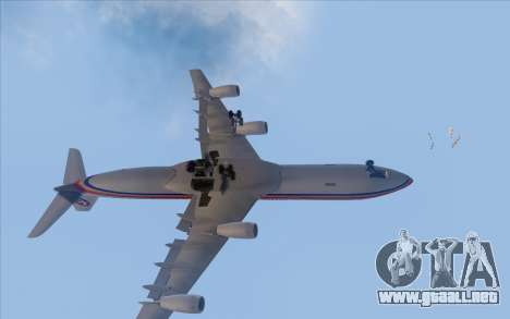 Airbus A340-300 China Eastern para visión interna GTA San Andreas
