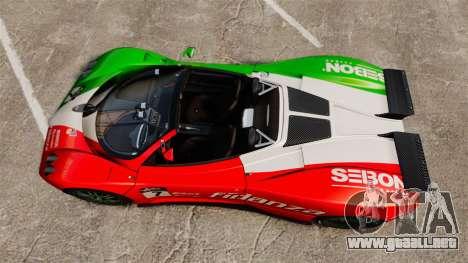 Pagani Zonda C12 S Roadster 2001 PJ6 para GTA 4 visión correcta