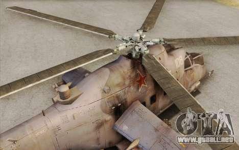Mi-24D Hind from Modern Warfare 2 para la visión correcta GTA San Andreas