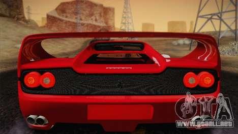 Ferrari F50 1995 para visión interna GTA San Andreas
