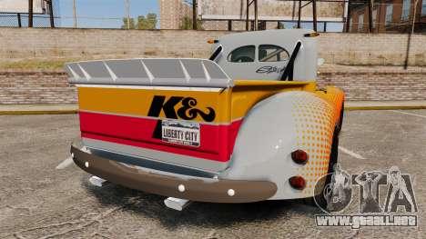 Dumont Type 47 para GTA 4 Vista posterior izquierda