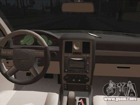 Chrysler 300C 2009 para vista lateral GTA San Andreas