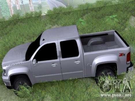 GMC Sierra SLT para GTA San Andreas vista posterior izquierda