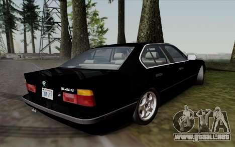 BMW 540i (E34) para GTA San Andreas vista posterior izquierda