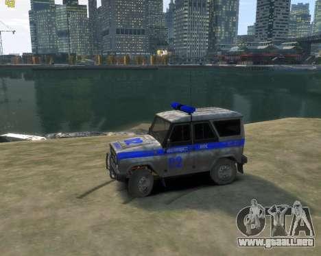 UAZ 315195 Cazador de la Policía para GTA 4 left