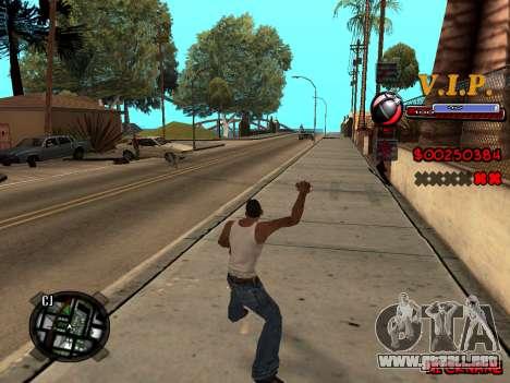 C-HUD VIP para GTA San Andreas quinta pantalla