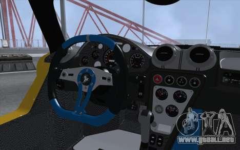 Gumpert Apollo S Autovista para GTA San Andreas vista hacia atrás