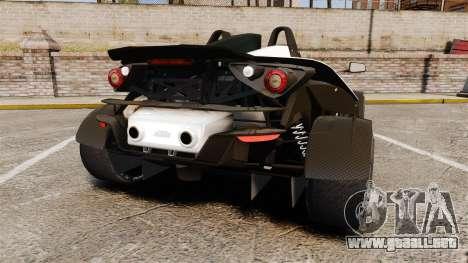 KTM X-Bow R para GTA 4 Vista posterior izquierda