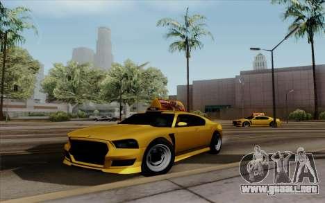 Buffalo Taxi para GTA San Andreas vista posterior izquierda
