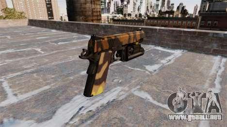 Pistola semiautomática Kimber Caída Camuflaje para GTA 4 segundos de pantalla