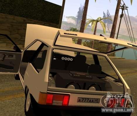 ВАЗ 2108 GVR Versión 2.0 para GTA San Andreas vista hacia atrás