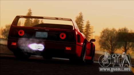 Ferrari F40 1987 para vista inferior GTA San Andreas