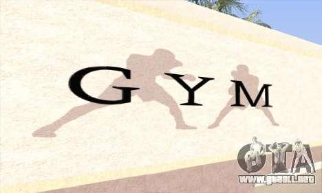 New gym para GTA San Andreas segunda pantalla
