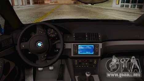 BMW E39 M5 2003 para vista lateral GTA San Andreas