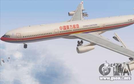 Airbus A340-300 China Eastern para la vista superior GTA San Andreas