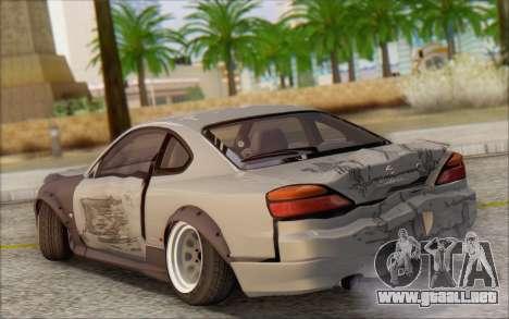 Nissan Silvia S15 Fail Camber para la vista superior GTA San Andreas