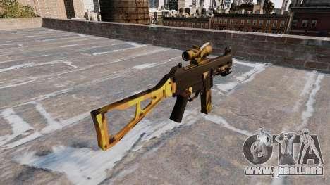 La ametralladora UMP45 Caída Camuflaje para GTA 4 segundos de pantalla