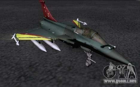 Dassault Rafale M para GTA San Andreas vista hacia atrás